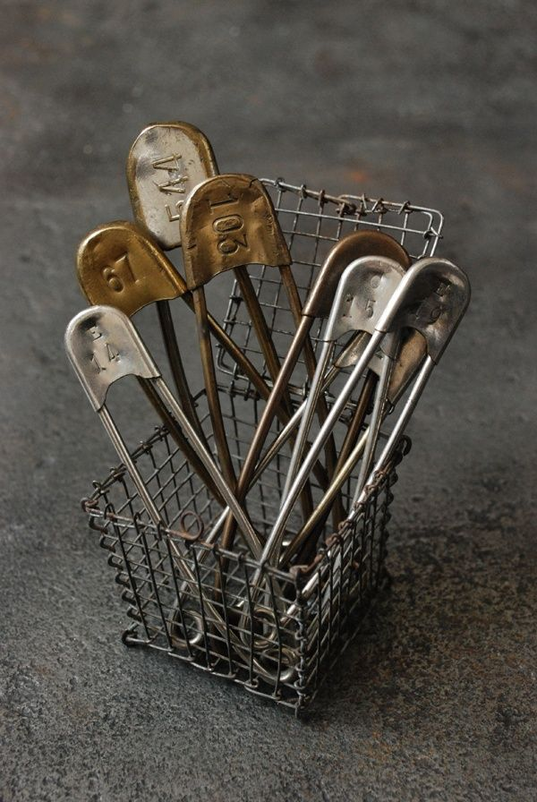 large vintage safety pins
