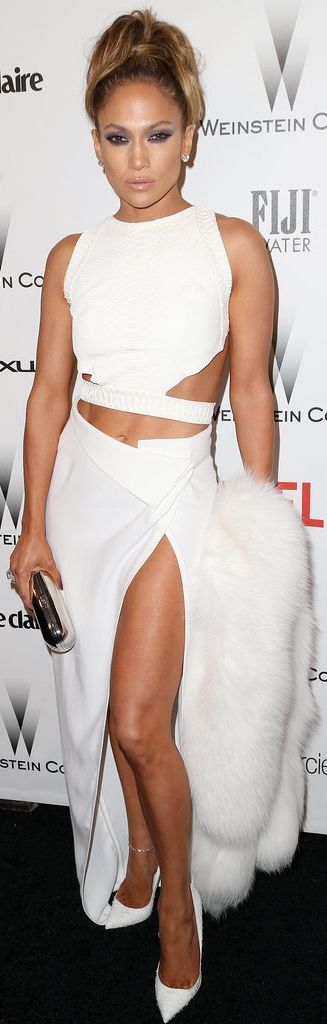 J Lo rocked sexy cutouts at the Golden Globes after party!