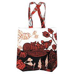 Fox & Cubs Bag, 40 x 41 cm