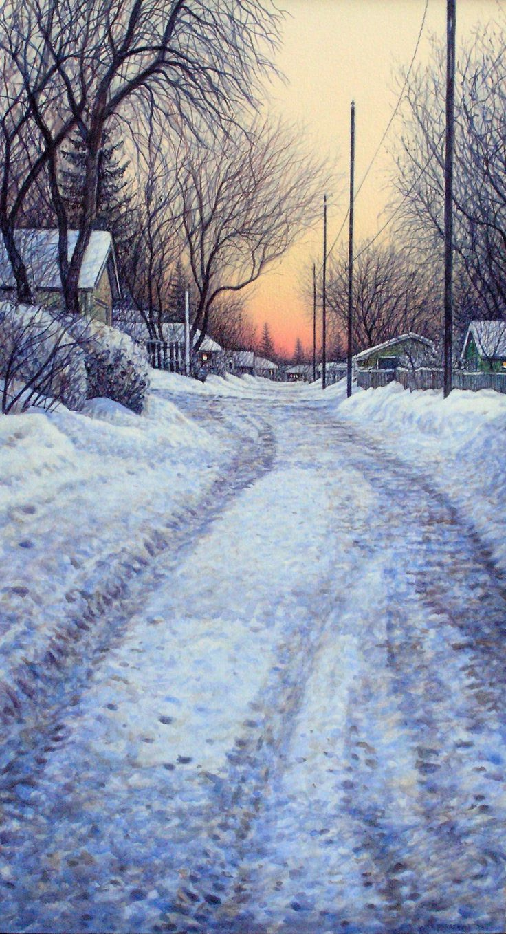 'Alley View', 2011, acrylic by Wilf Perreault at Mayberry Fine Art