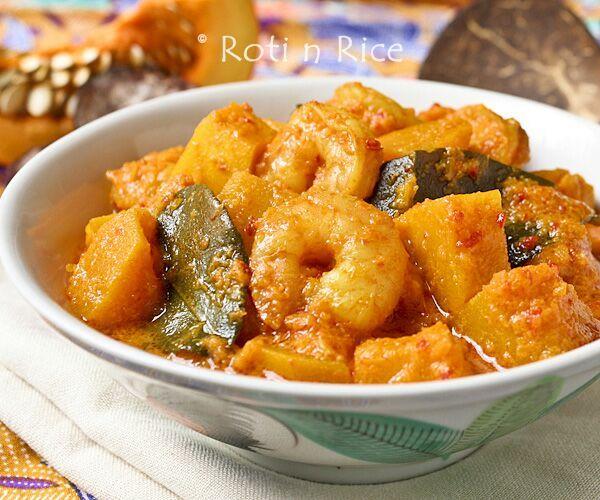 Nyonya Style Pumpkin and Shrimp Curry - Roti n Rice