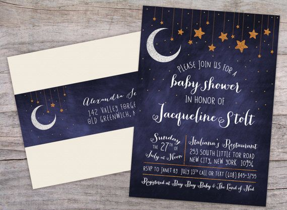 Over the Moon Starry Night Baby Shower by SprinklesByGracie, $20.00