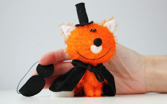 Mr Fox  Mr X  OOAK Miniature collectible jointed by BearMyFriend
