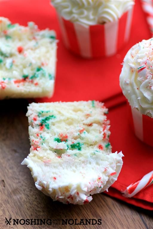 Vanill Candy Cane Cupcakes by Noshing With The Nolands4