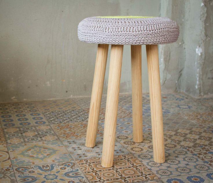 1000  images about crochê/tricô na decoração  cadeiras, banquinhos ...