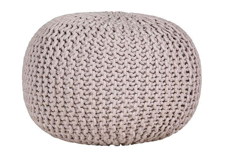 Sitz-Pouf, Gutmann Factory für 59,99€. Moderner Sitzhocker, In Grobstrick-Optik, Bezug aus reiner Baumwolle, Füllung aus Styroporkugeln bei OTTO