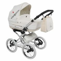 Turran Eco Leather Exclusive 3 in1 Travel System with Babypram 01 Eco White (Kinderwagen, Turran Eco Leder) - Lux4Kids | Baby prams, Pushcha...