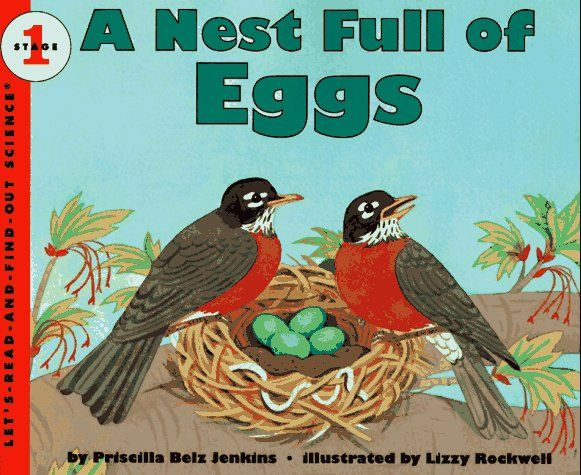 A great book for children interested in baby birds. Follow a mother robin as she builds her nest and lays her eggs. Finally the eggs hatch and the birds grow up. Don't worry - they'll be back next Spring! There is lots of information in the book. It reads like a story, which helps to hold my son's interest.