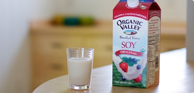 organic soy milk...without the risk of almond cross-contamination
