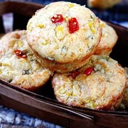 Sweet And Spicy Cornbread Muffins Packed With Corn Chiles