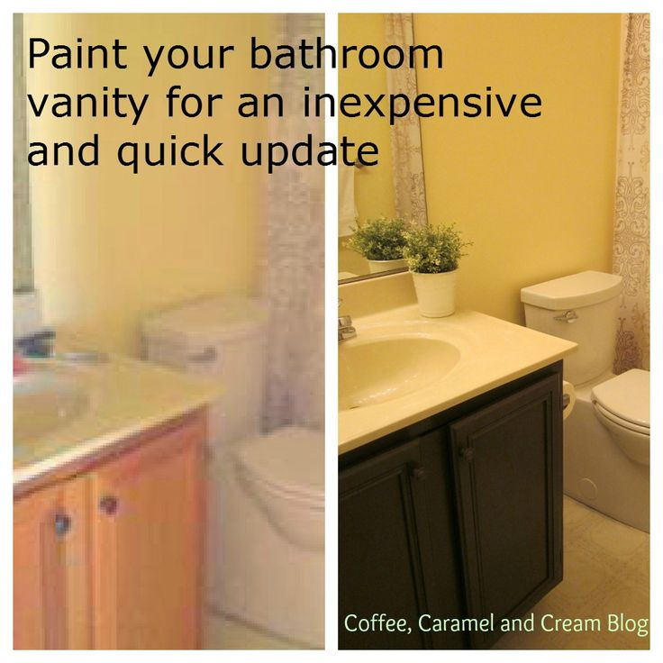 How To Paint Bathroom Vanity Cabinets best 25+ painting bathroom vanities ideas on pinterest | paint