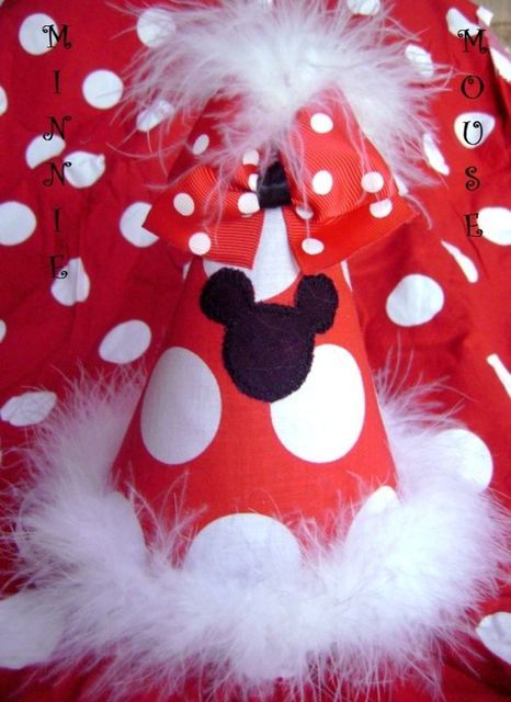 Minnie Mickey mouse party hat