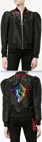 Black Sequin-Embellished Jacket