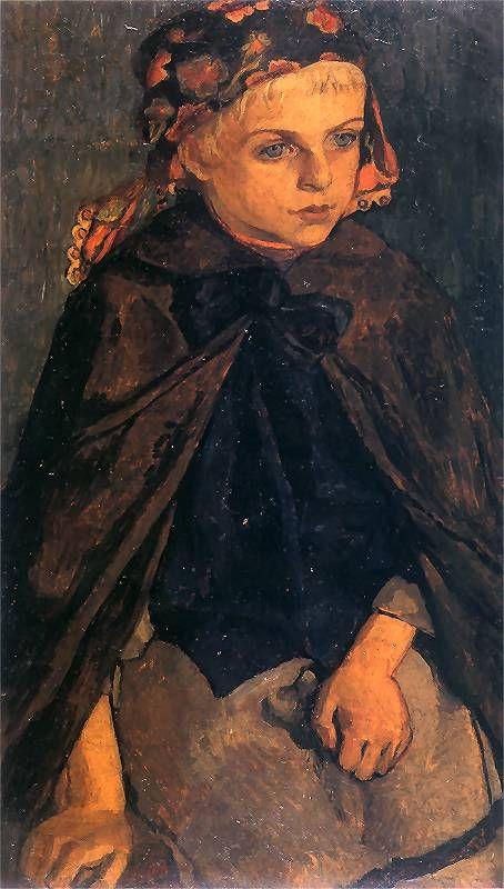 Józef Mehoffer - Dziewczynka góralska, 1904