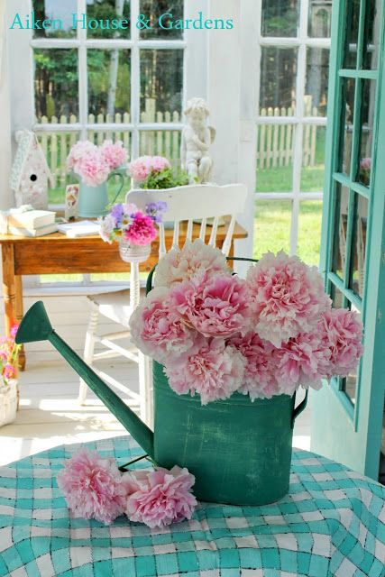 Elegant Aiken House U0026 Gardens: For The Love Of Aqua Green And Pink
