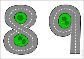 Number roads floor mats for cars (SB10939) - SparkleBox
