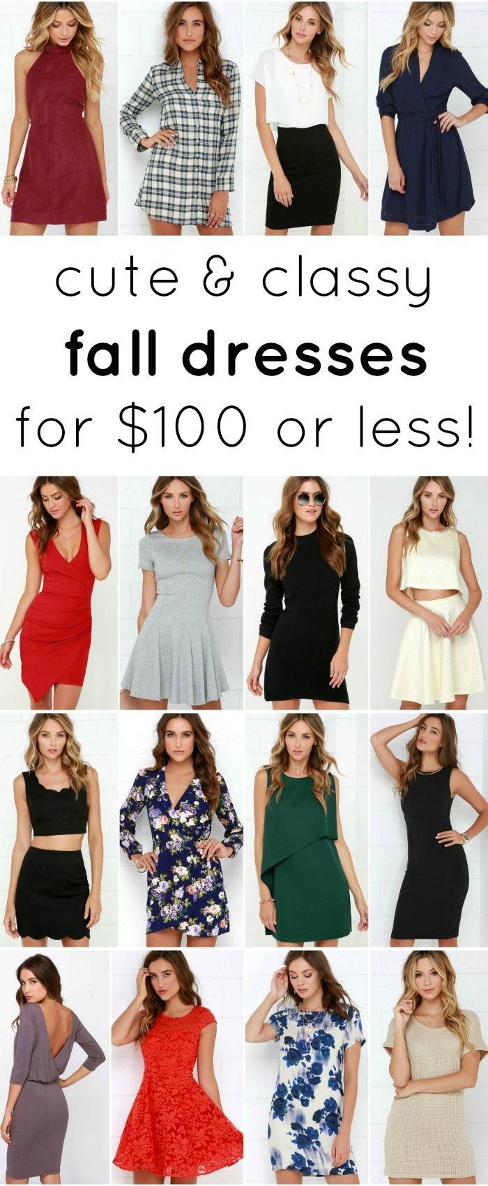 Cute fall dresses under $100! | by @ashleynicholas at ashleybrookenicholas.com