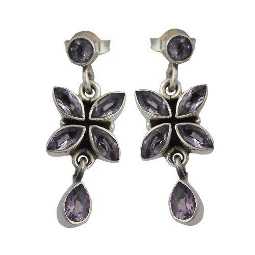 Pietra preziosa ametista orecchini gioielli in argento 2,54 Cm ShalinIndia http://www.amazon.it/dp/B005MHF86M/ref=cm_sw_r_pi_dp_MQH4tb0G1V5CK