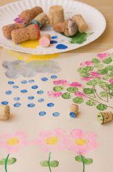 Preschool Painting & Drawing Activities: Cork Stamp Art
