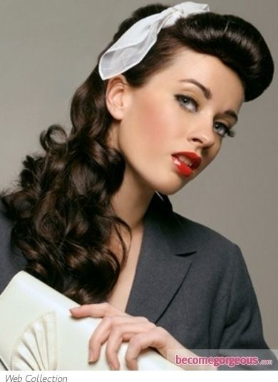 10. Long #Retro Glam - 33 Ravishing Retro #Hairstyles ... → Hair #Victory