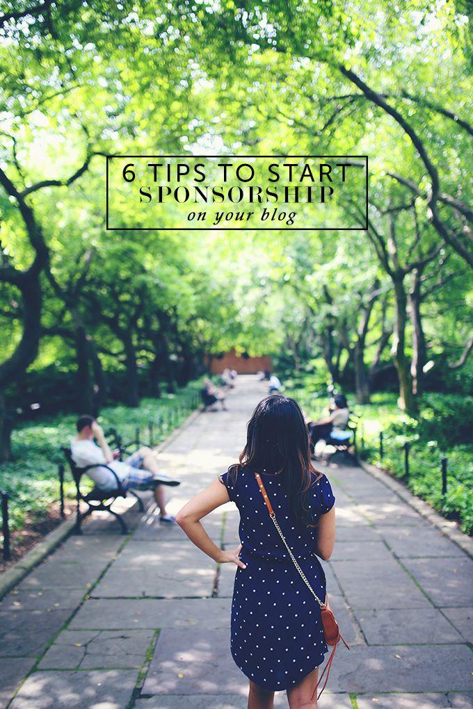 6 tips to start sponsorship on your blog - Postcards from Rachel #blogging