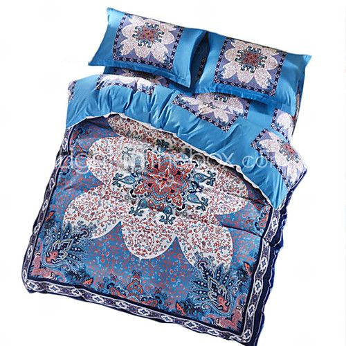BeddingOutlet Luxury Bedding Set Blue Retro Design Quilt Cover No Fading Quality Bed Sheet Queen Size 4pcs Bedspread - USD $70.54 ! HOT Product! A hot product at an incredible low price is now on sale! Come check it out along with other items like this. Get great discounts, earn Rewards and much more each time you shop with us!