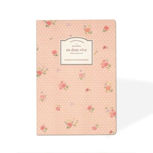 Small Notebook with Floral Cover
