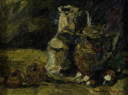 """Rudolf Schweitzer-Cumpăna - """"Natură statică cu ulcele şi fructe"""""""