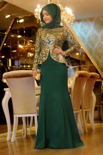 Pınar Şems Saraylı Abiye - Zümrüt
