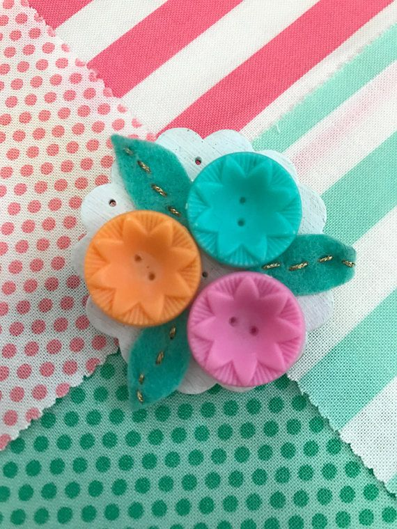 Handmade jewellery  Vintage Inspired Brooch With Pastel