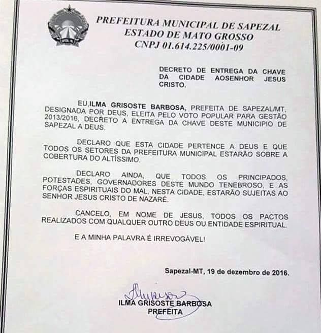 Guanambi: Primeiro decreto do prefeito 'cancela trabalhos de macumba' feitos na Prefeitura