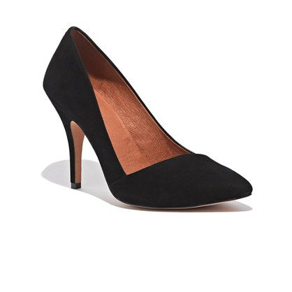 Soo comfortable for a heel and the cut across the upper foot is very flattering and different for a basic pump. Would HIGHLY suggest this Madewell shoe - The Mira Heel