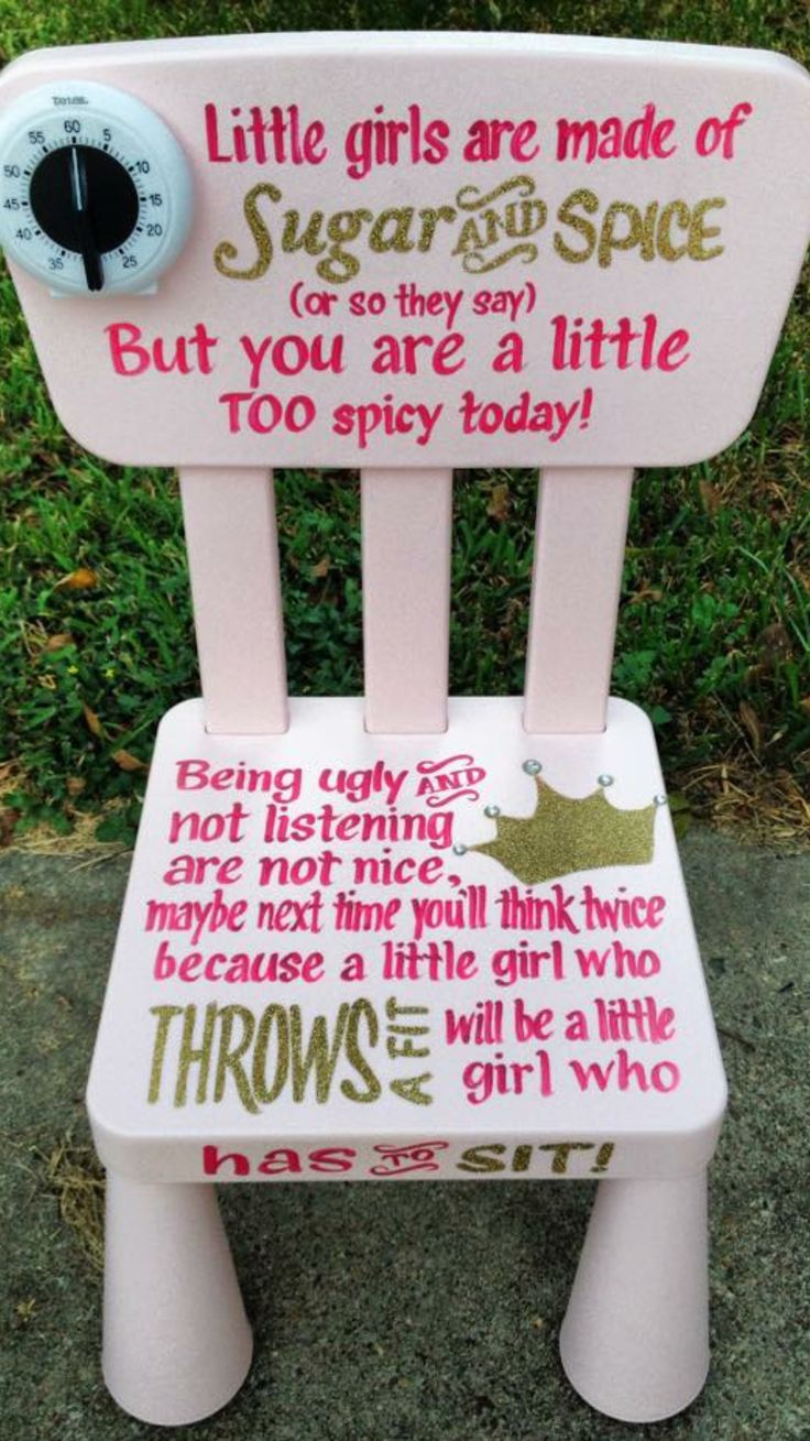 Perfect for if you have a little girl who has to go on time-out.