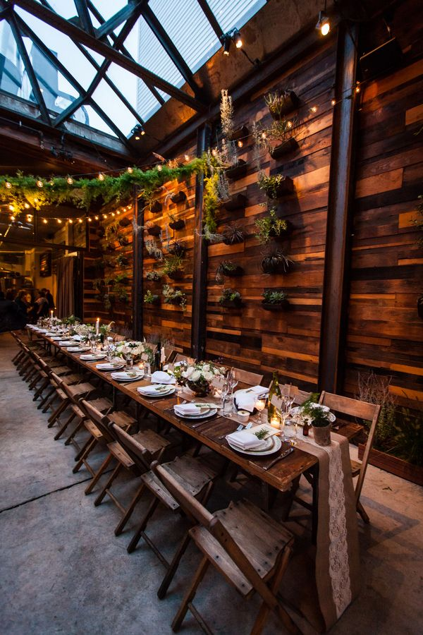 A Rustic Urban Wedding Reception at Brooklyn Winery   Kelly Williams, Photographer   http://heyweddinglady.com/romantic-rustic-urban-wedding-at-brooklyn-winery/