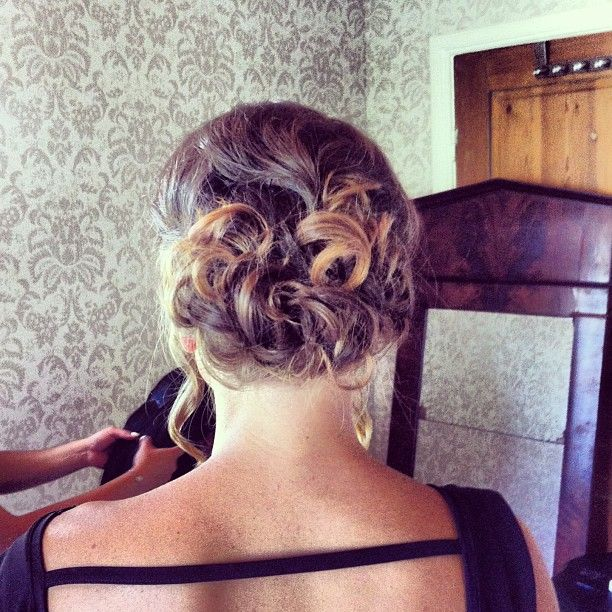 The bridal hairstyle