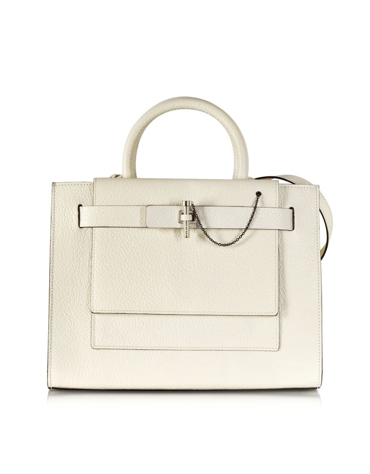 Carven Ivory Malher Tote Bag at FORZIERI