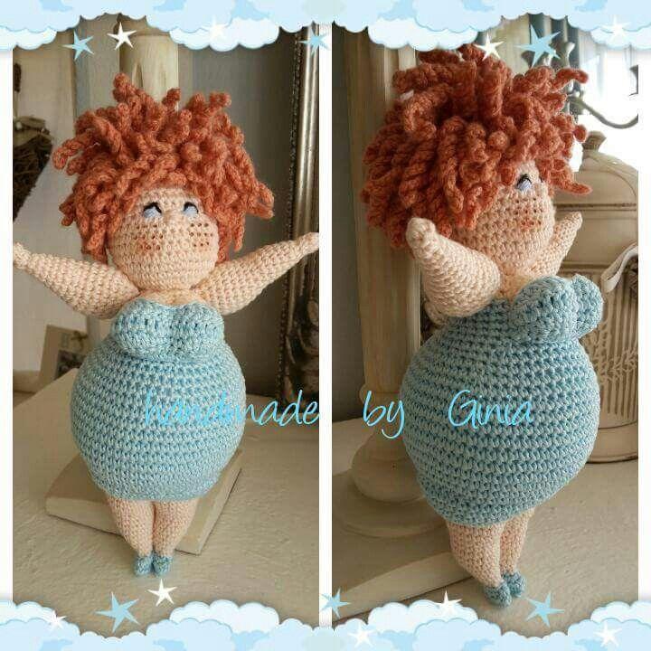 OMG CUTES!! Handmade by Ginia / Crochet fat ladies / gehaakte dikke dametjes / amigurumi chubby girls
