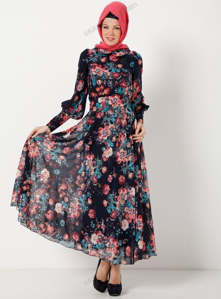 Bebe Yaka Kuşaklı Elbise - E1995-3 - Laci - The Kendira