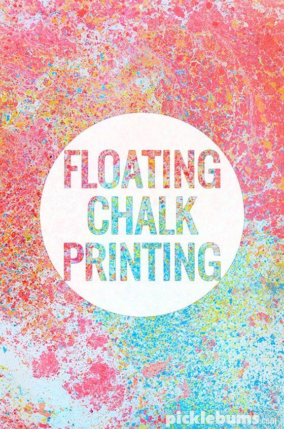 floating chalk printing an easy yet magical art activity