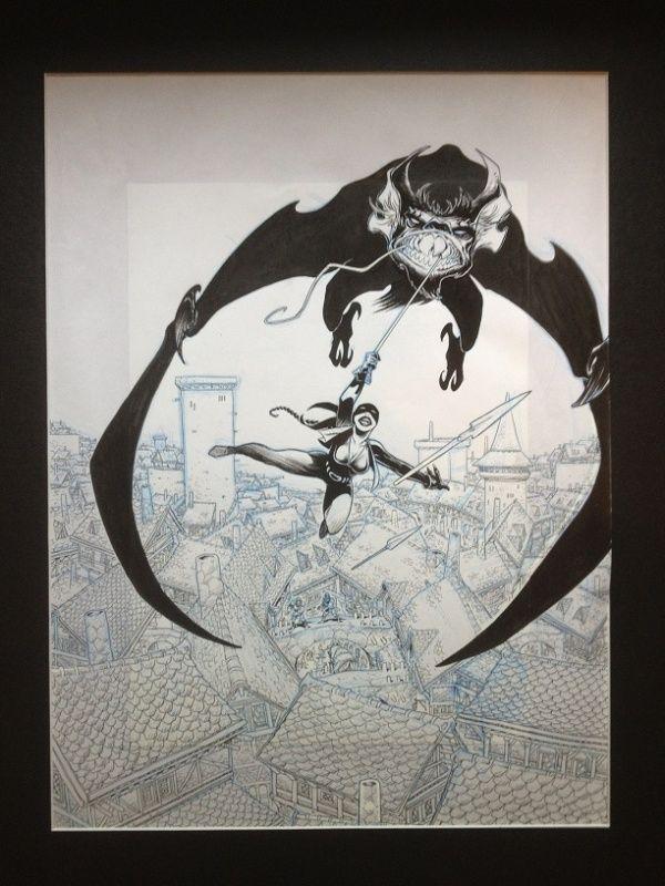 Couverture de lanfeust de troy par Didier Tarquin,Christophe Arleston - oeuvre originale
