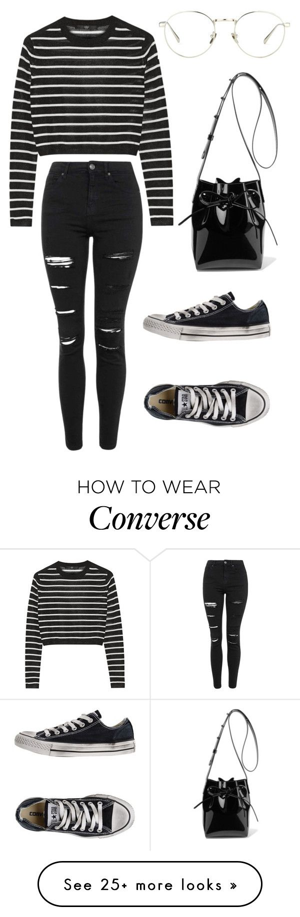 """Susi"" by saradiamondlovee on Polyvore featuring TIBI, Topshop, Converse, Linda Farrow and Mansur Gavriel"