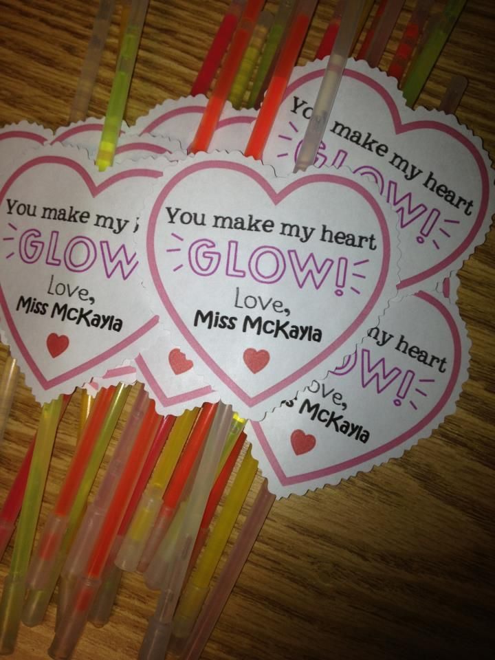 "Valentine for students!  Or ""Jesus makes my heart glow"""