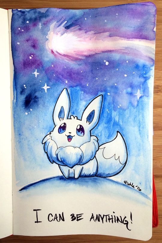 Inspirational Eeveelution for the day! Only one left. Previously: