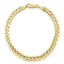 "14k Yellow Gold Curb Men's Bracelet (8"")"