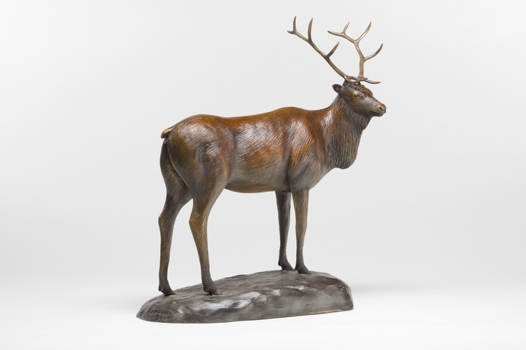 'The Elk' by Nathan Scott, www.sculpturebynathanscott.  I sculpted  and cast this piece at my studio in Victoria, BC where I also own and operate my own bronze foundry.  Limited edition of 25.