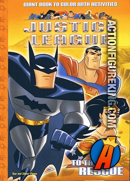 JusticeLeague To The Rescue Coloring Book Featuring Batman WonderWoman And Superman