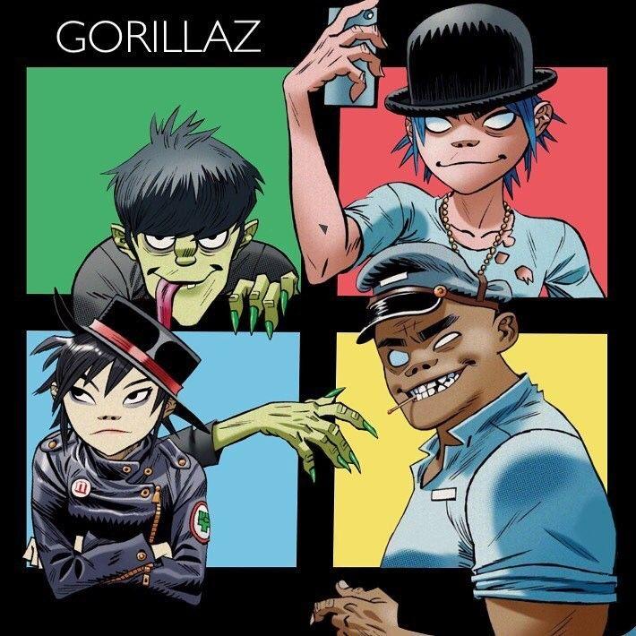 Gorillaz by Jamie Hewlett, awesome fan art by 2d.singer via Instagram