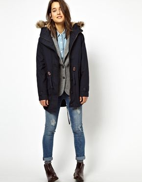Image 4 of Jack Wills Sherpa Lined Parka