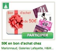 """A tous ceux qui nous """"like"""", nous offrons une possibilité de gagner un bon d'achat de 50 Euros, à dépenser comme vous le souhaitez chez Marionnaud, Galleries Lafayettes, H ou Carrefour. Recommandez notre page pour plus de chances de gagner et vous faire plaisir!  @BSM_fr #BingoSocialMedia"""