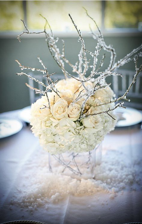 winter-wonderland-centerpiece-with-hydrangea-roses-and-branches.jpg 473×746 pixels